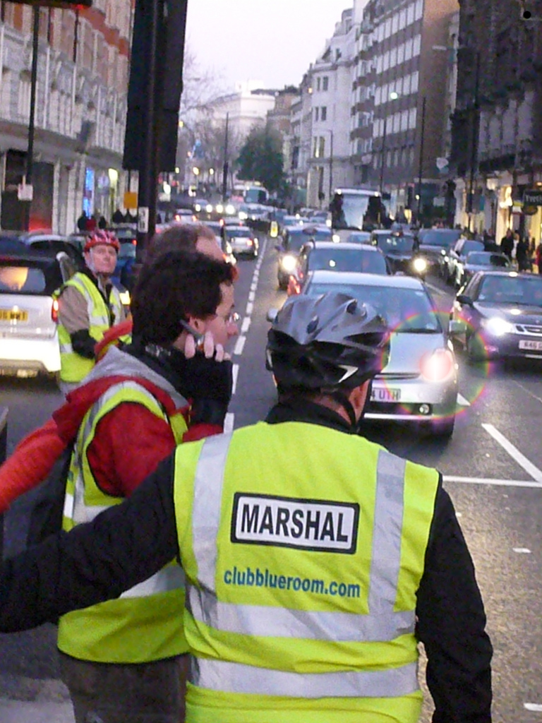 Marshaling traffic in London